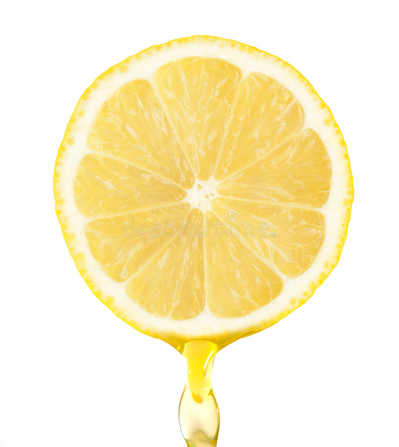 Free Fragment Of Lemon With Royalty Free Stock Photo - 34457165