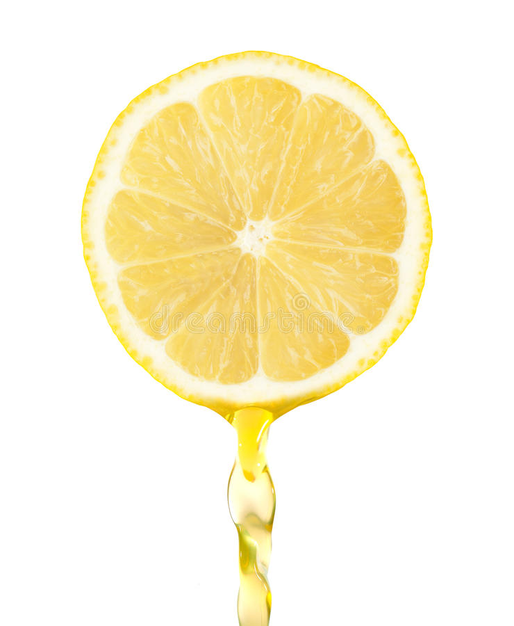 Free Fragment Of Lemon With Water Royalty Free Stock Photo - 34456835