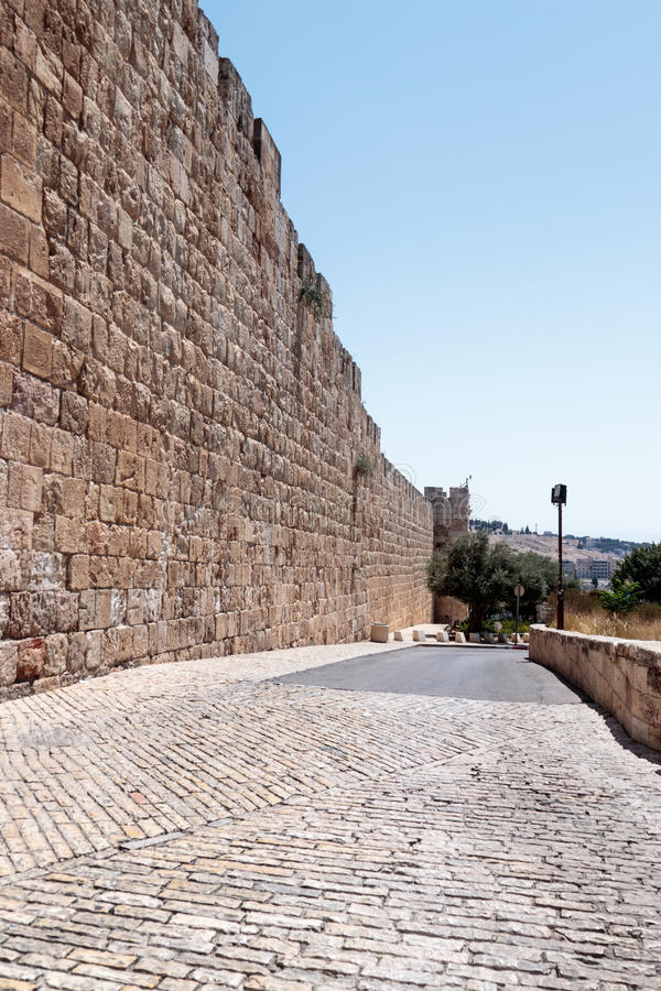 Free Fragment Of The Fortress Walls Near To The Zion Gate In The Old Tow In Jerusalem, Israel Royalty Free Stock Image - 96679786