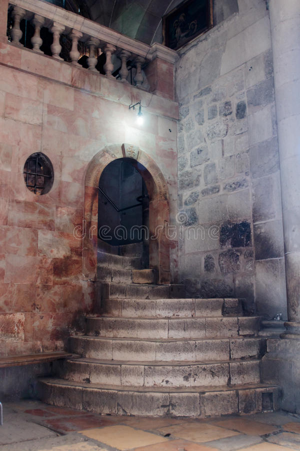 Free Fragment Of The Interior Of The Church Of The Holy Sepulchre In Jerusalem, Israel. Steps To Golgotha. Royalty Free Stock Image - 96907226