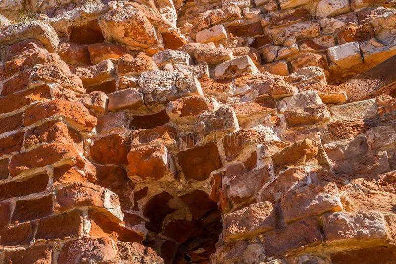 Fragment Of Old Brick Wall Stock Photo