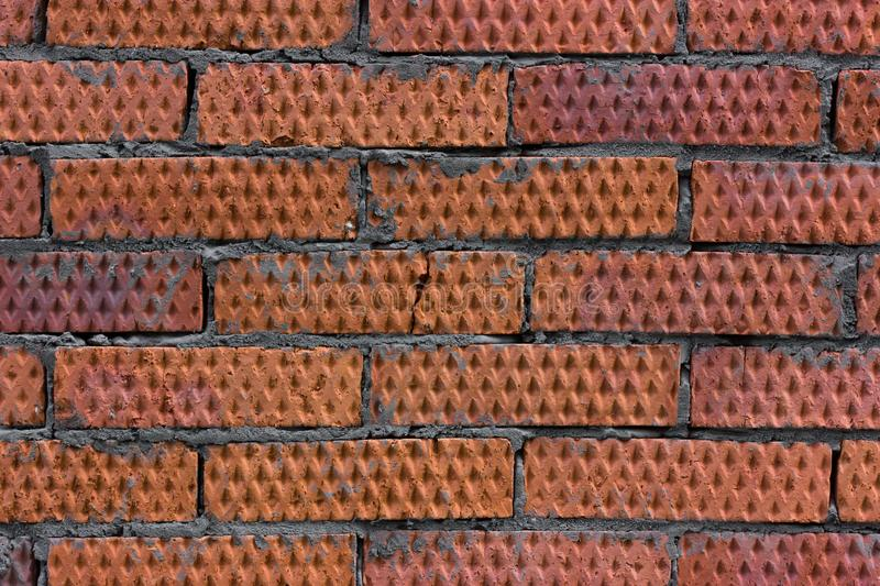Fragment of an old brick wall close up royalty free stock image