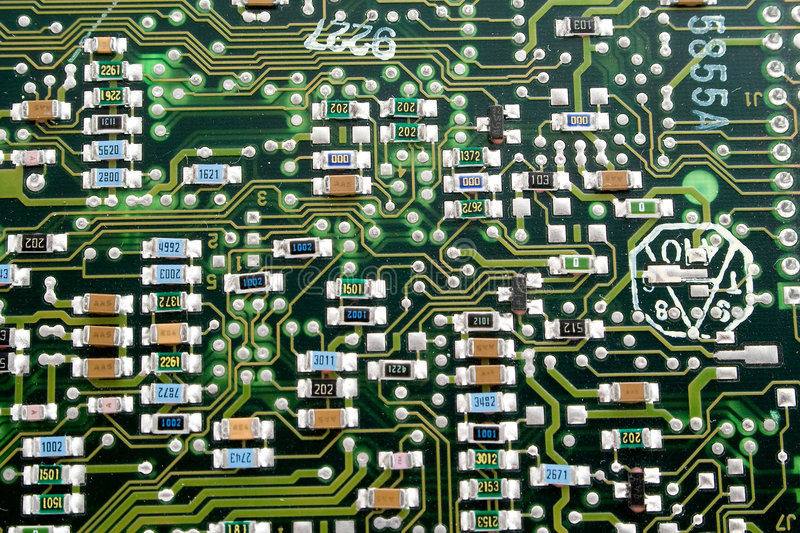 Download Fragment Of An Old Computer Board. Stock Image - Image: 4085679
