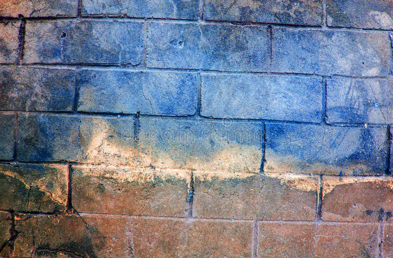 Download Fragment Of Old Dirty Brick Wall With Peeling Plaster Texture White Grey Brown Black Green Blue Lime Yellow Orange Maroon Violet P Stock Photo - Image: 83724926