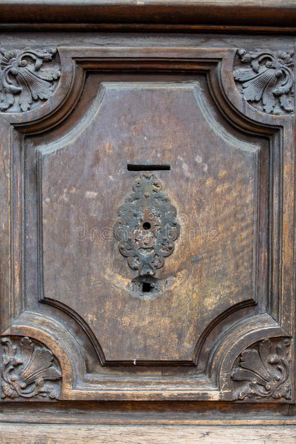 Fragment of the old door royalty free stock photography
