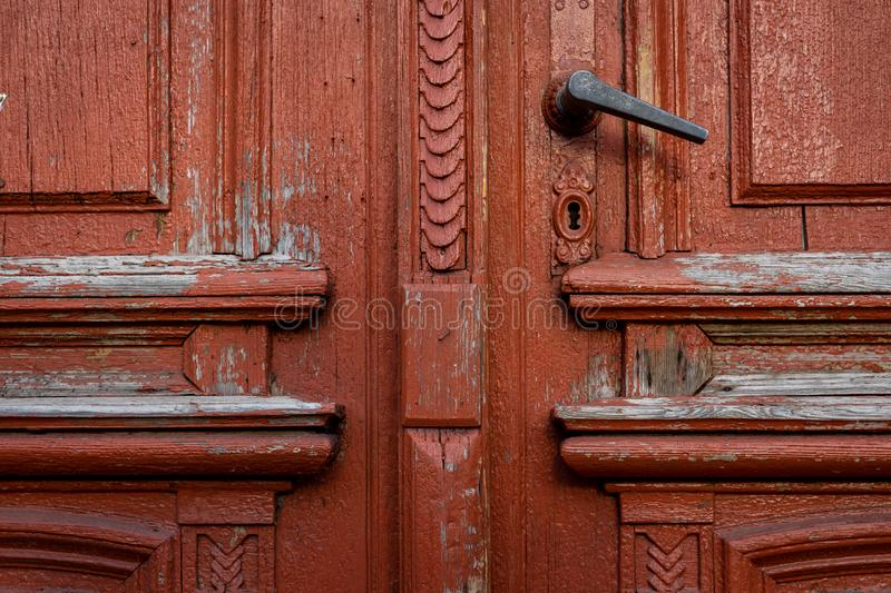 Fragment of the old door royalty free stock image