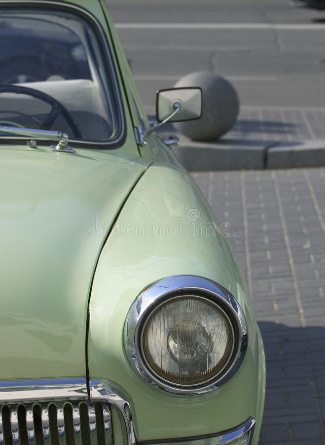 Fragment of retro car stock images
