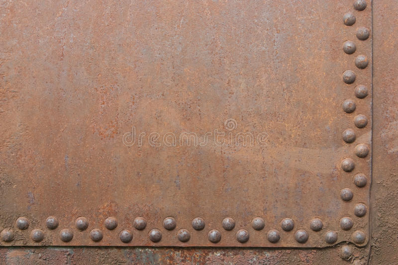 Fragment with rivets stock photo