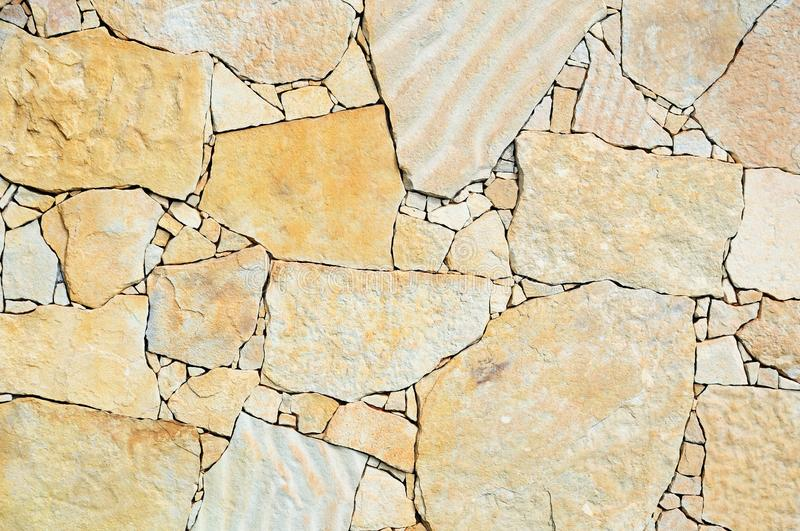Fragment of a sandstone wall royalty free stock images