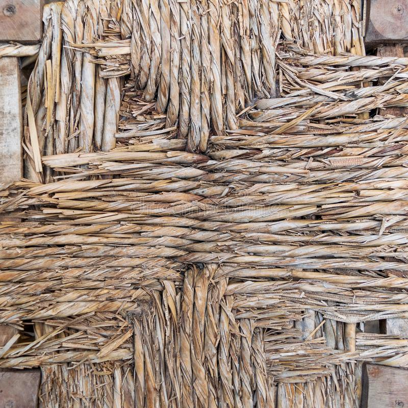 Fragment of shabby thatched wall royalty free stock photography