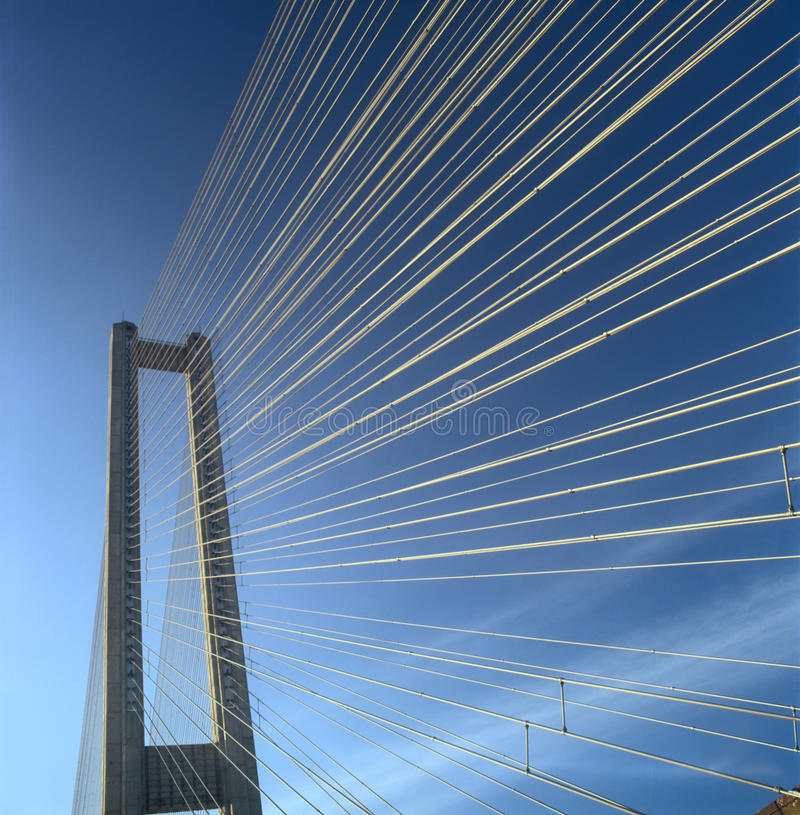 Fragment Of The Southern Bridge. Royalty Free Stock Photography
