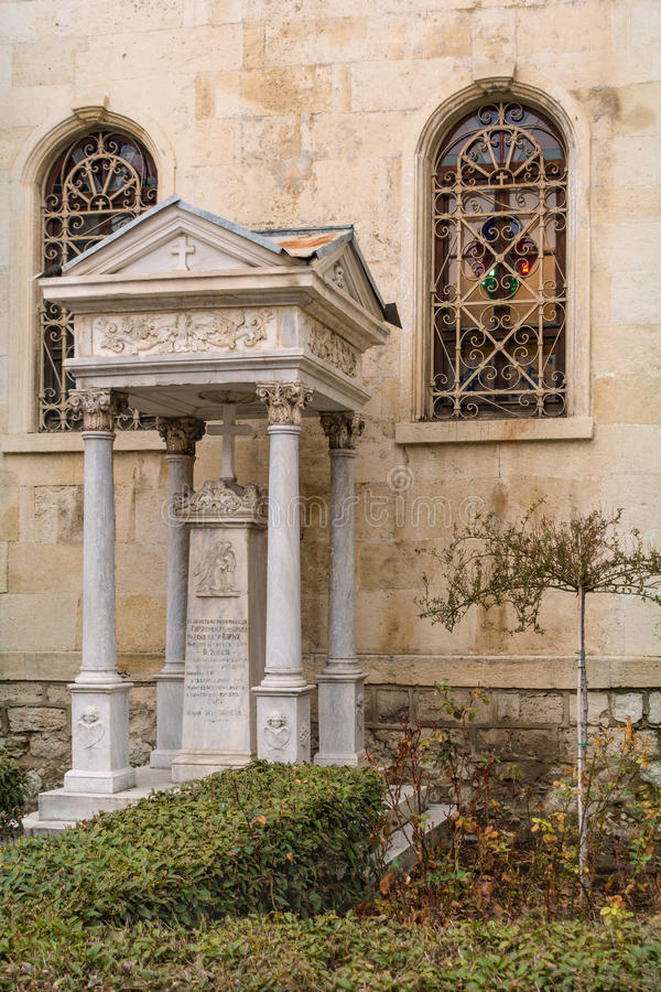 Fragment of St Nikola church in Varna, Bulgaria. stock images