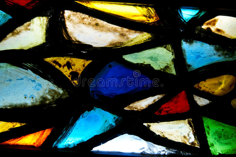Fragment of a stained glass. Background royalty free stock photo