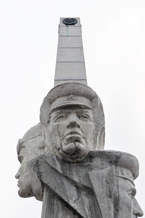 Fragment of Stela, Monument of Kamchatka Frontier-Guards Glory on Petropavlovsk Kamchatsky City royalty free stock photos