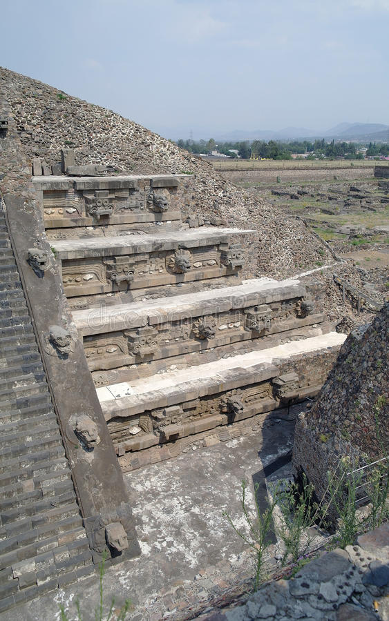 Download A Fragment Of The Step Pyramid In Teotihuacan Stock Photo - Image: 28549160