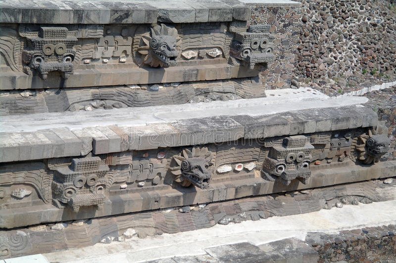A fragment of the step pyramid in Teotihuacan