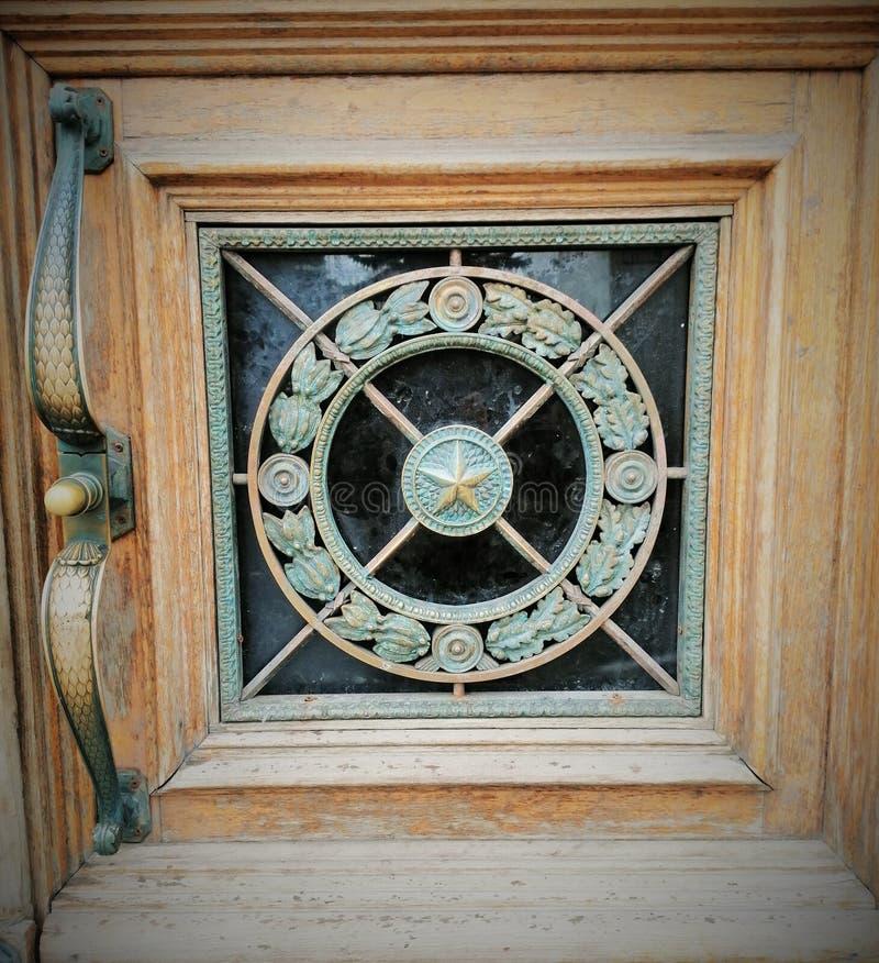 Fragment sur la porte photo libre de droits