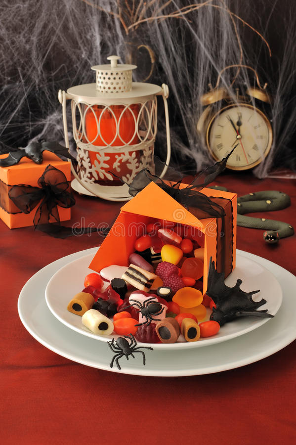 Download Fragment Table Setting For Halloween Stock Image - Image of tables, spider: 26654547