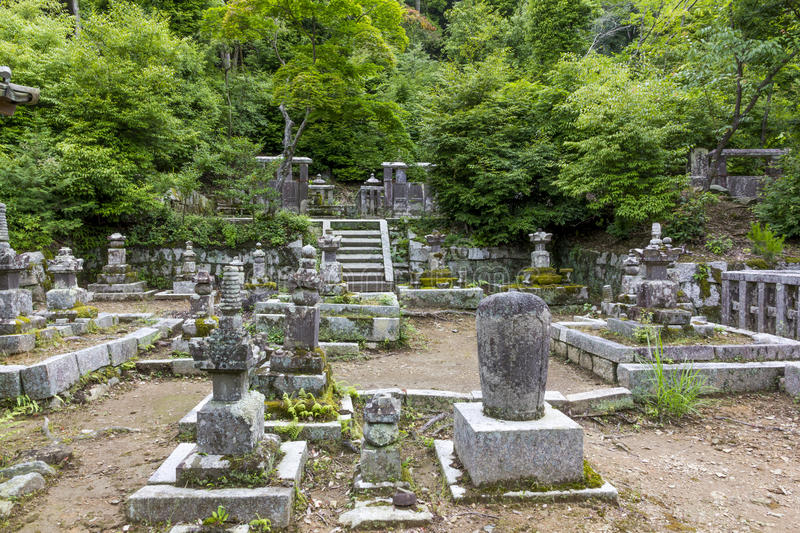A Fragment Of A Traditional Temple Graveyard In Kyoto, Japan Editorial Image