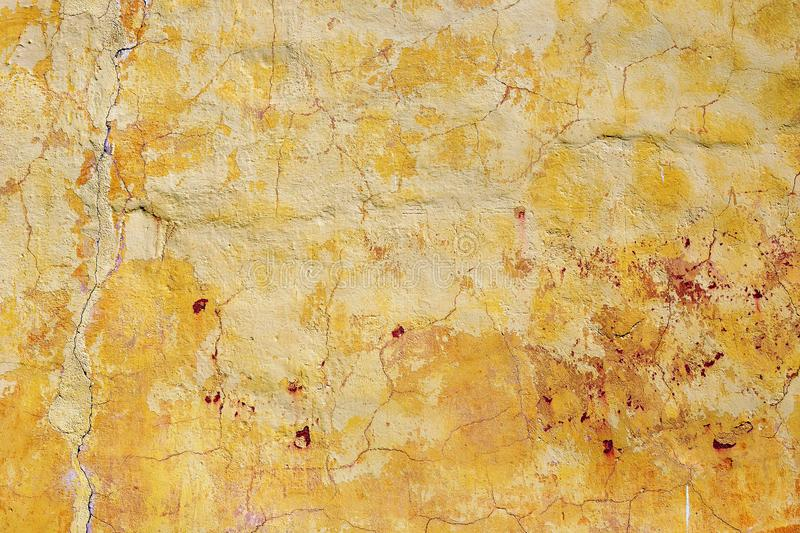 Old dilapidated plastered stone wall royalty free stock photos