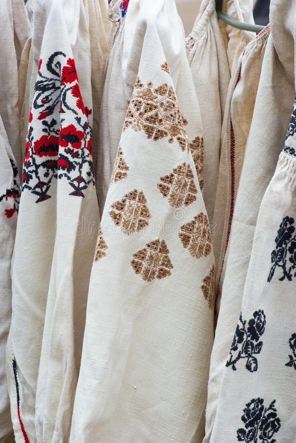 Download Embroidery on linen shirt stock photo. Image of geometric - 29758746