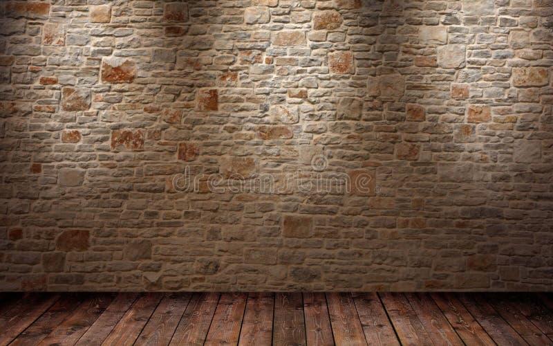 Fragment van de geglanste bakstenen muur royalty-vrije stock foto's