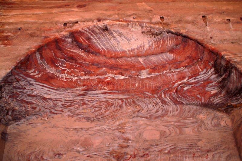 Fragment van de kluis van de grot of de woonkamer in de oude stad van Petra royalty-vrije stock foto's