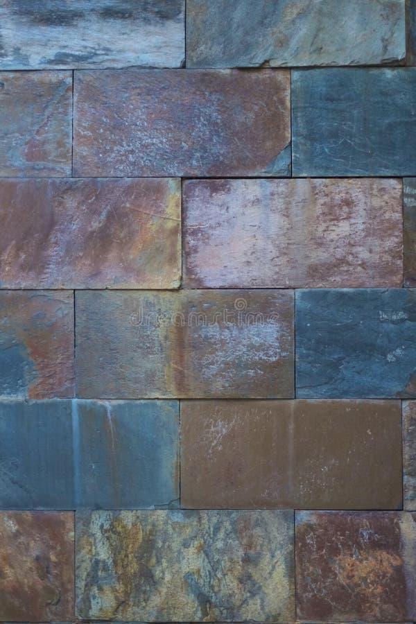 Fragment van de muur van steenblokken stock foto