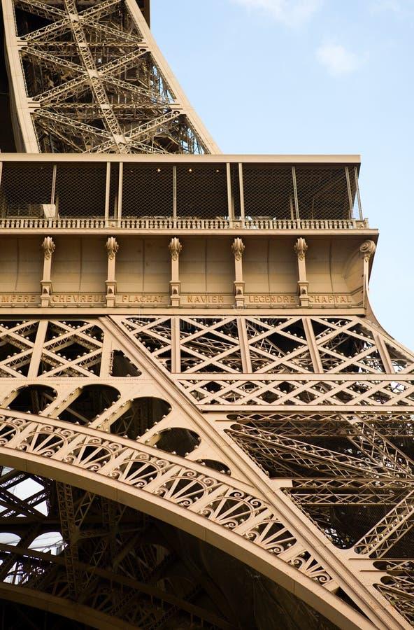 Fragment van de Toren van Eiffel stock foto's