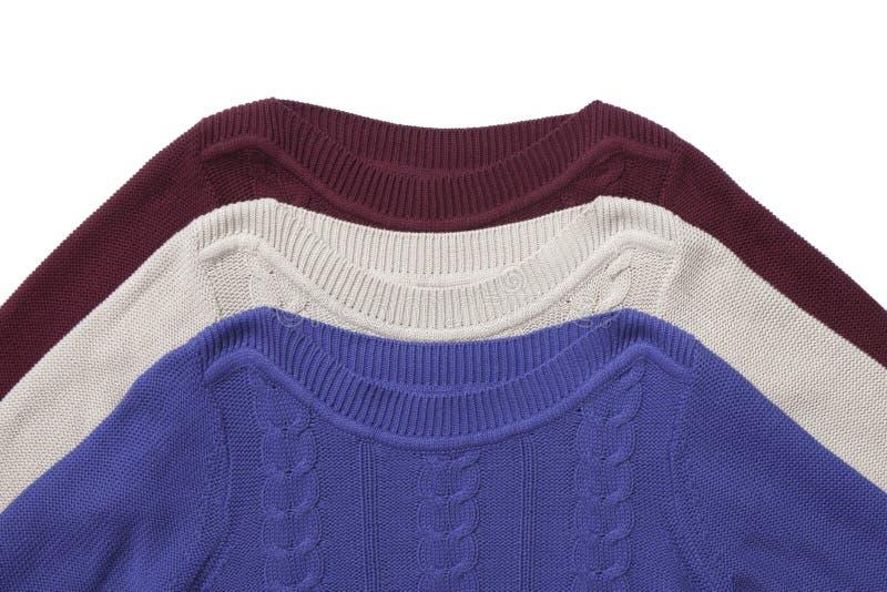 Fragment van drie sweaters royalty-vrije stock afbeelding