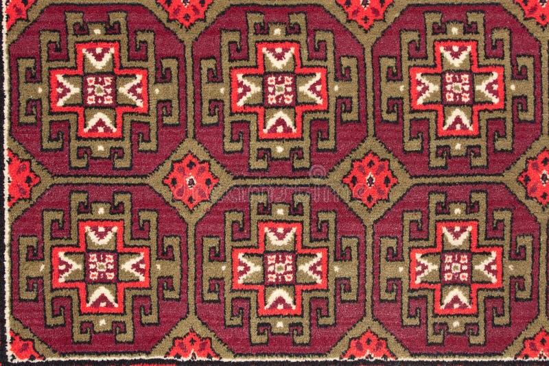 Fragment van een patroon van het uitstekende tapijt van de muurwol royalty-vrije stock foto's