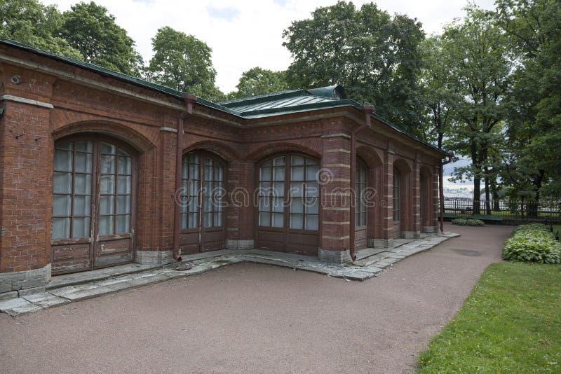 Fragment van het huis van Peter Groot in St. Petersburg royalty-vrije stock foto's