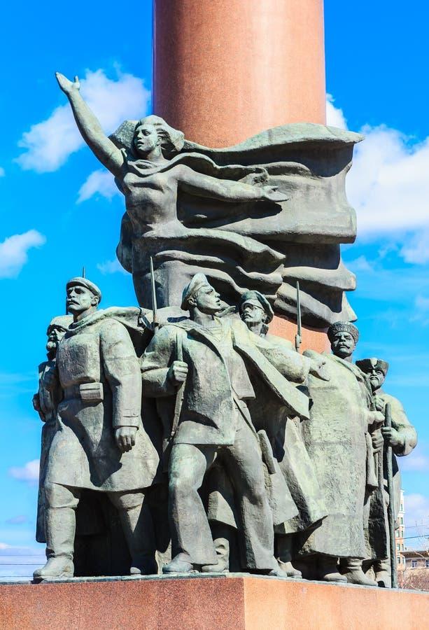 Fragment van het monument aan Vladimir Lenin, Moskou royalty-vrije stock afbeelding