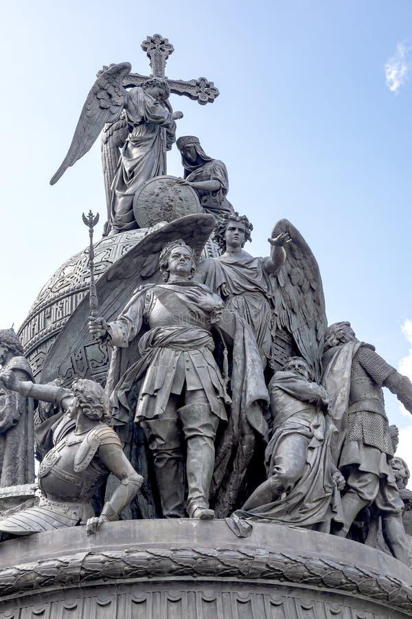 Fragment van het monument Millennium van Rusland 1862 jaar royalty-vrije stock fotografie