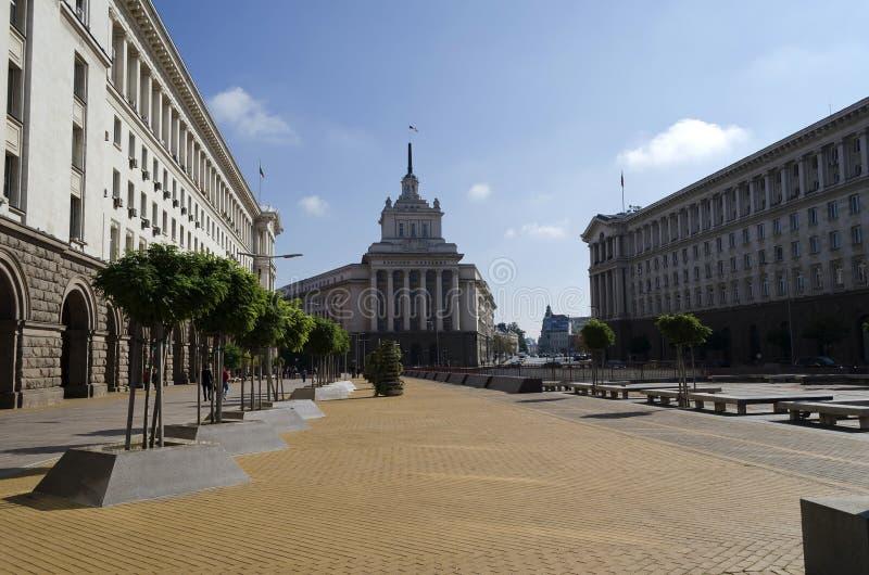Fragment van het Parlement de bouw, Voorzitterschap en Ministerie stock foto's