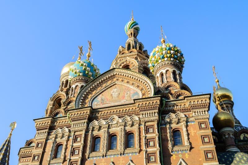 Fragment van kathedraal van Onze Verlosser op Gemorst Bloed, St. Petersburg royalty-vrije stock foto's