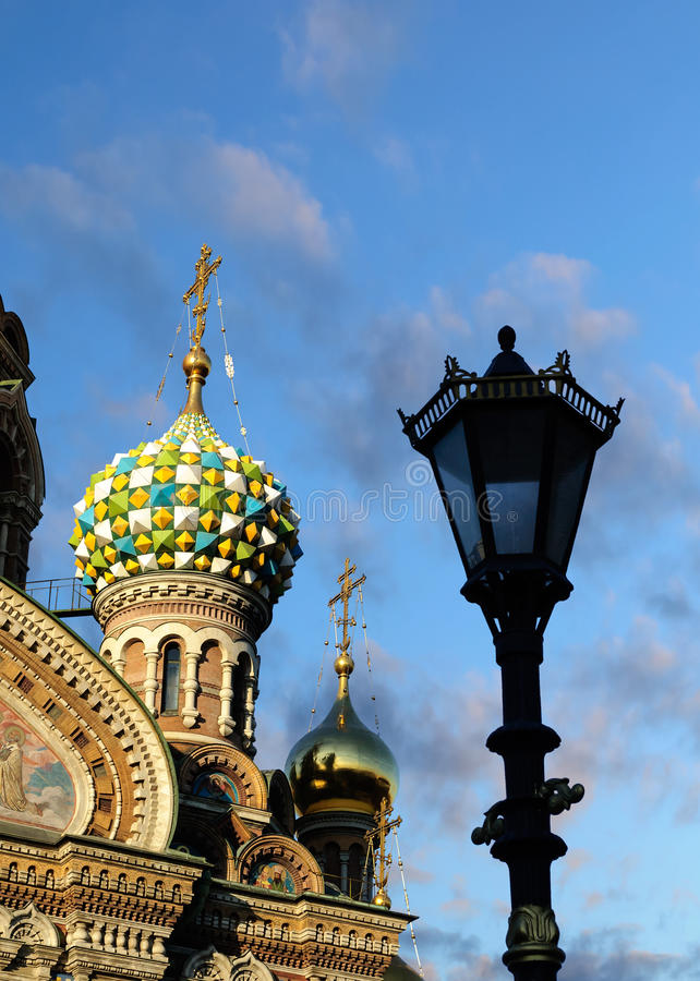 Fragment van kathedraal van Onze Verlosser op Gemorst Bloed, St. Petersburg stock afbeeldingen