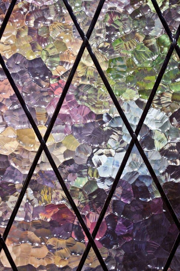 Fragment van klassiek glasmozaïek royalty-vrije stock afbeelding