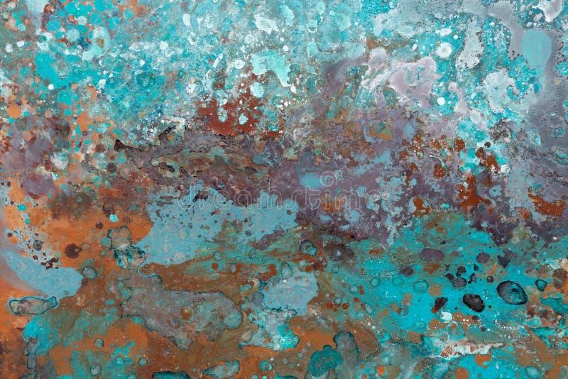 Fragment van olieverfschilderij Fragment van kunstwerk Donkere kleuren stock afbeelding