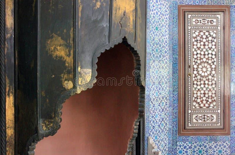 Fragment van ornament in Topkapi-paleis, Istanboel, Turkije royalty-vrije stock fotografie