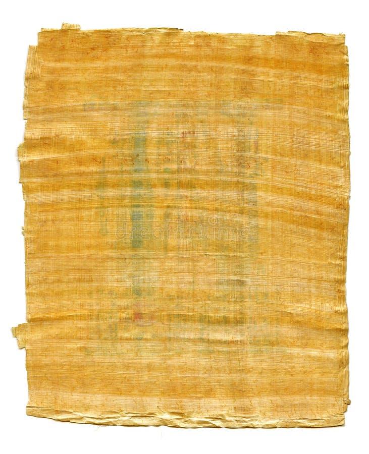 Fragment van Oude Egyptische papyrus van de Karnak-tempel, Thebes-vallei, Luxor, Egypte Antiek manuscript, blad van perkament stock foto's