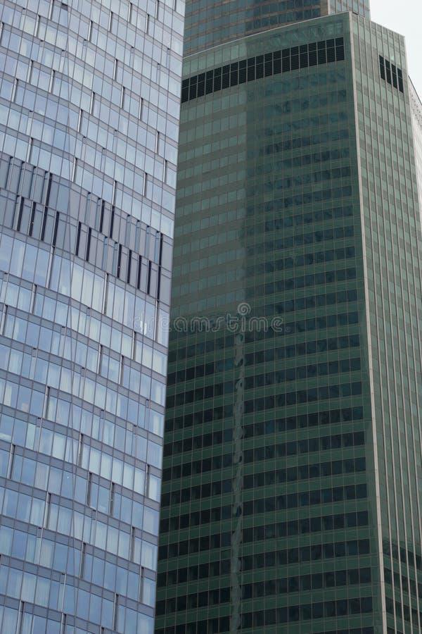 Fragment van wolkenkrabbers Moderne bouw stock afbeeldingen