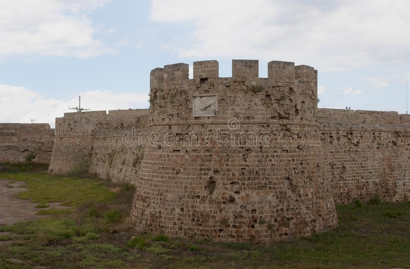 A fragment of the Venetian castle in Famagusta. Northern Cyprus stock photos