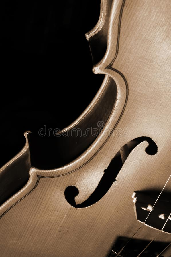 Fragment of violin royalty free stock photography