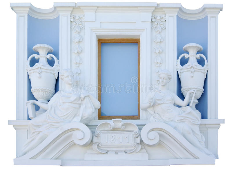 Download Fragment Wall With Classic Window Isolated Stock Image - Image: 10683849