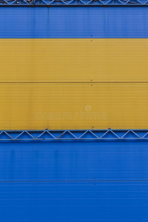 A Fragment Of A Wall Of Iron Sheets Stock Photo - Image of decking ...