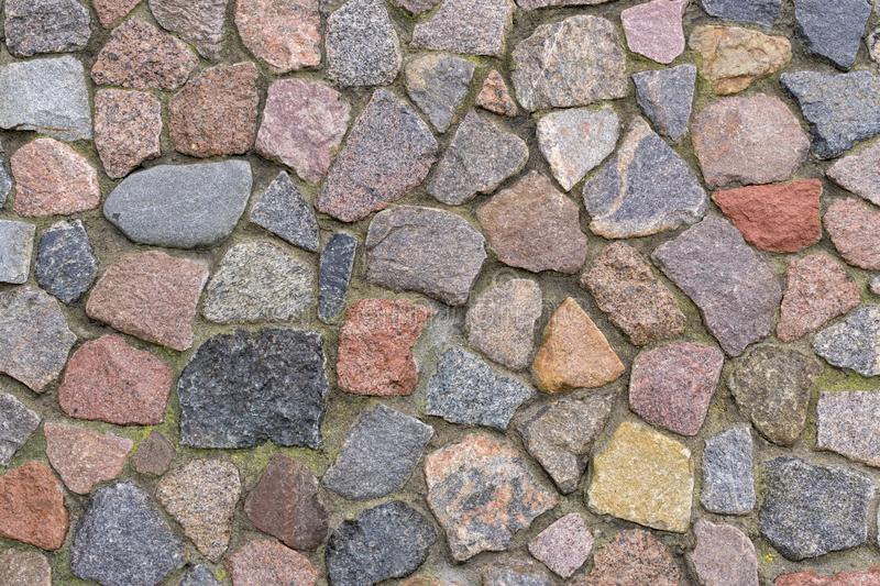 Wall of granite pieces royalty free stock images