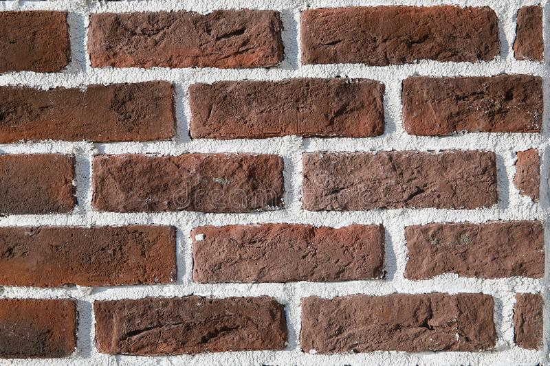 Brick wall of red color stock image