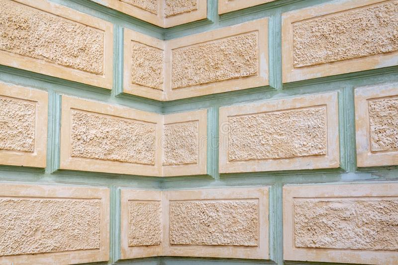 Embossed wall as background or texture stock photography