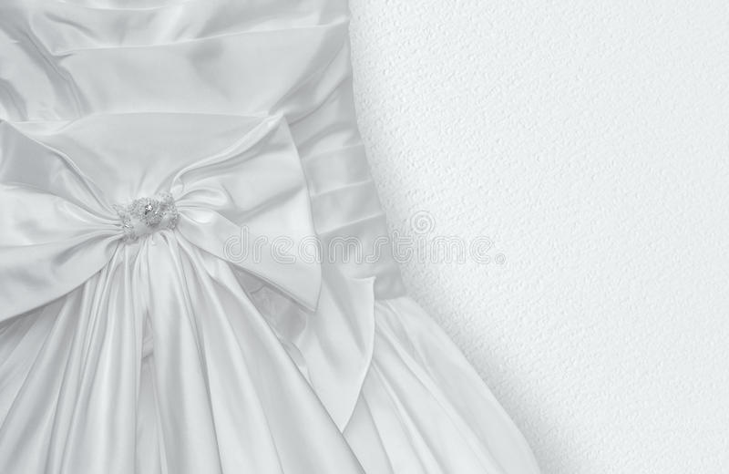 Fragment Of Wedding Dress Stock Photo